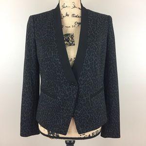 NWT LOFT Leopard Print Tuxedo Blazer, 6P